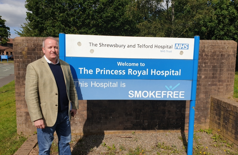 Mark Pritchard MP Princess Royal Hospital Telford and Wrekin